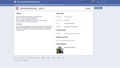 about section facebook how to optimize facebook about section for mobile users