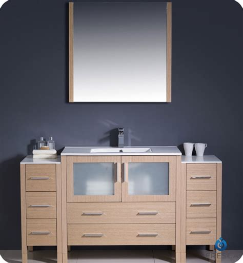 Bathroom Vanity Side Lights Fresca Fvn62 123612lo Uns Torino 60 Quot Modern Bathroom Vanity With 2 Side Cabinets And Integrated