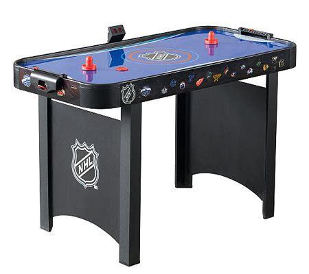 nhl air hockey table halex nhl 48 quot air hockey table qvc com
