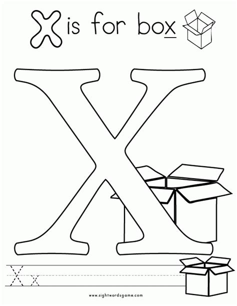 coloring pages with letter x letter x coloring page coloring home