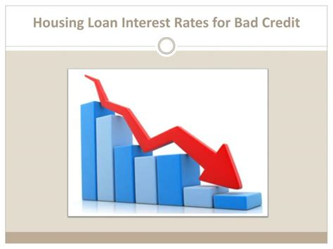 ppt housing loan interest rates for bad credit