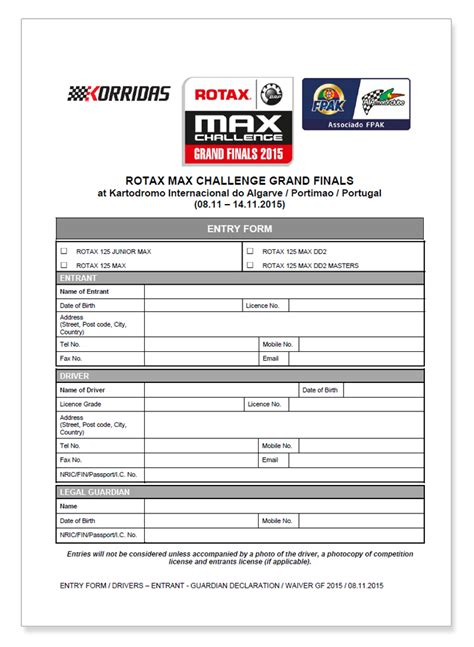 Nyit Mba Registration Form by Rotax Kart Driver Registration