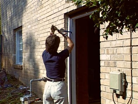 install doors exterior wall how to install a pre hung exterior door how tos diy