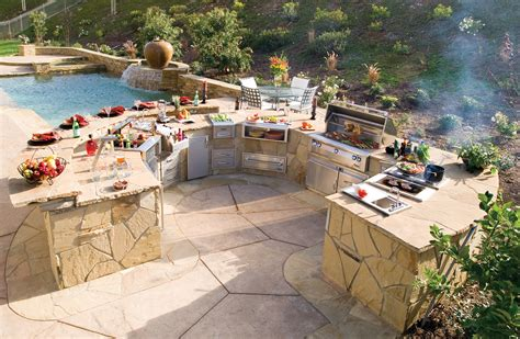 outdoor cooking 5 perfectly amazing outdoor kitchen layout ideas