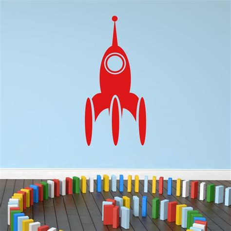 space rocket wall stickers space rocket wall sticker by mirrorin notonthehighstreet