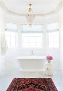 Chandelier Tub Bay Window Tub With Beaded Chandelier Transitional