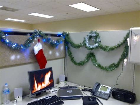 decorating office for christmas cubicle decoration themes in office