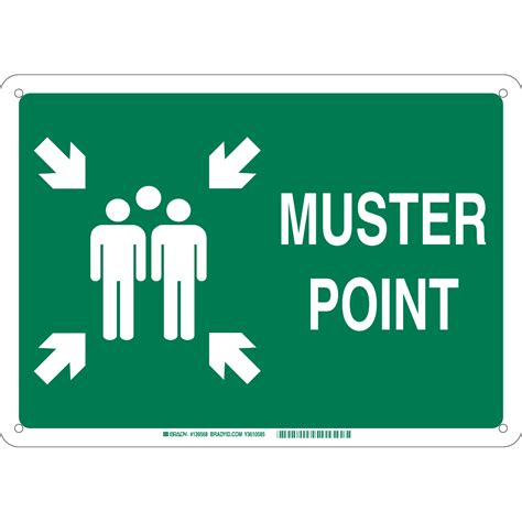 Muster Point Brady Part 139571 Muster Point Sign Bradyid