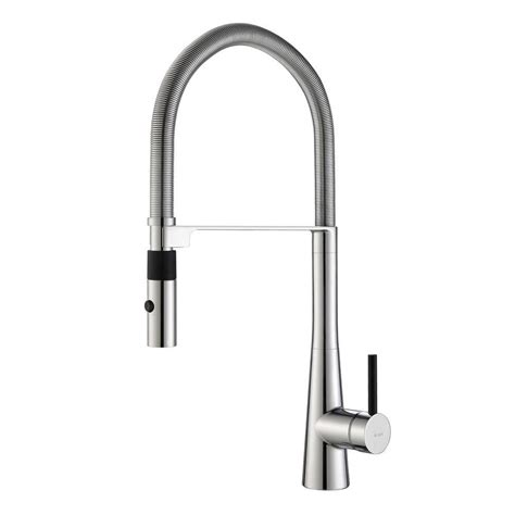 industrial kitchen faucets kraus crespo flex single handle commercial style kitchen