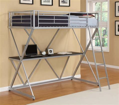 full size metal loft bed full size metal loft bed home improvement 2017 stylish
