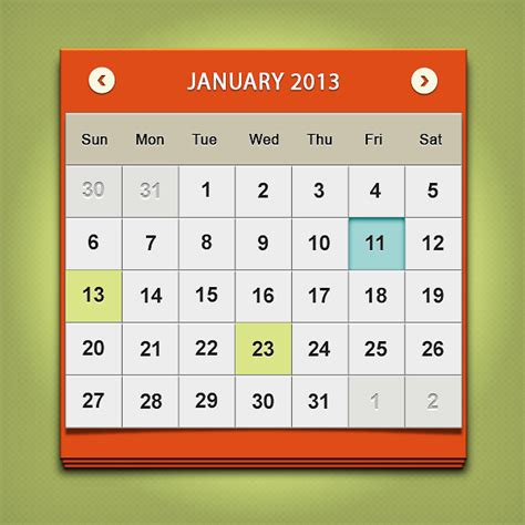 Design Calendar In Photoshop | design a clean calendar ui in photoshop
