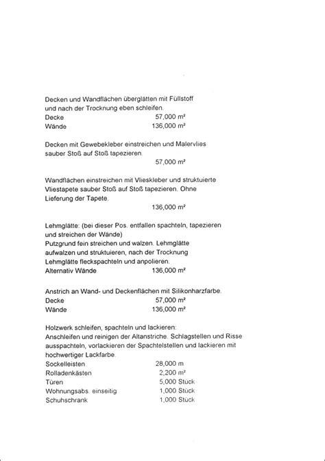 Angebot Muster Bau Angebot Archives Seite 3 7 Malerdeck Ihr Opti Maler Partner 174 Aus Karlsruhe Eggenstein