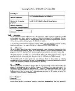 self review template sle self review template 6 free documents
