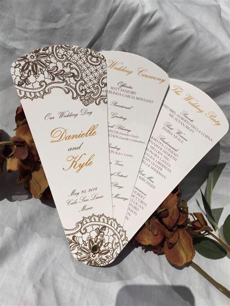 paper fan wedding programs 188 best our steunk wedding images on pinterest
