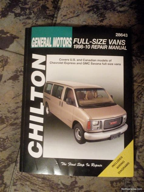 chilton chevrolet full size vans 1998 2010 repair manual nettivaraosa chilton full size vans 2018 chevrolet express ja gmc savana