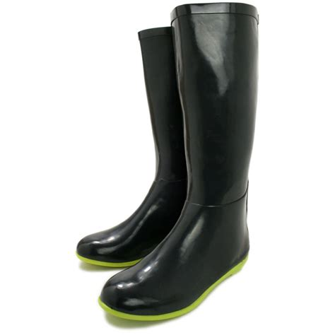 buy mylee flat wellies wellington knee high boots lime