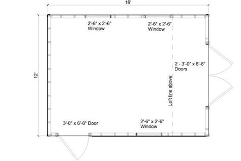 floor plans for sheds 12x16 gambrel shed floor plans my favorite free