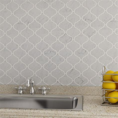 carrara marble kitchen backsplash bianco carrara marble arabesque mosaic tile kitchen