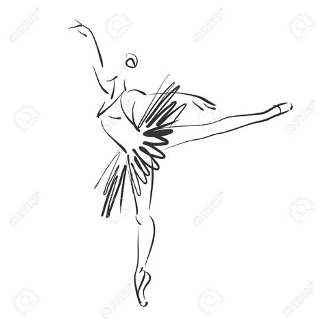 ballerina tattoo designs sketched beautiful ballerina in ballet pose