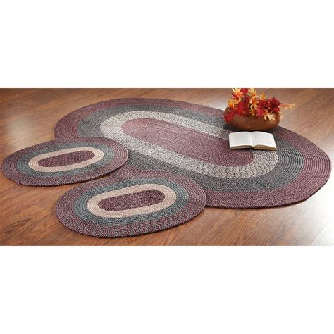 3 braided rug sets 3 pc braided rug set 179863 rugs at sportsman s guide