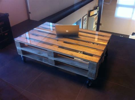 pallets smalltable industrial table