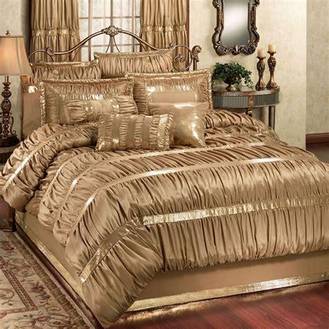 gold comforter sets splendor shirred faux silk dark gold comforter bedding