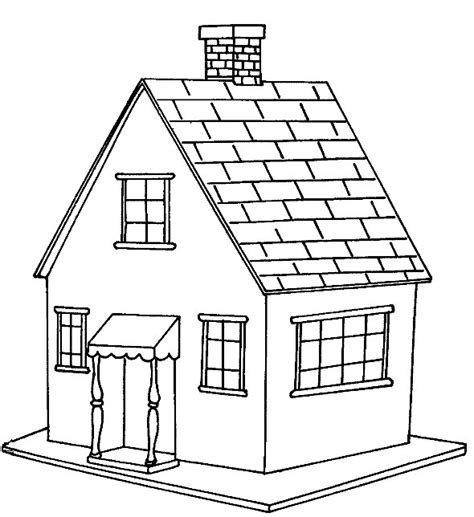 Printable Coloring Pictures Of A House | free printable house coloring pages for kids