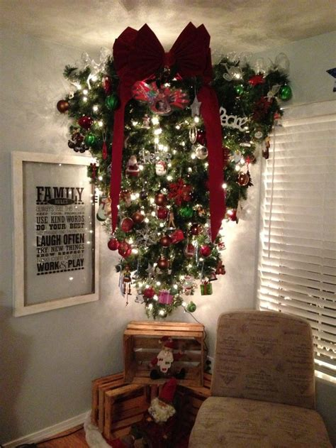 upside down christmas tree upside down christmas tree decor pinterest