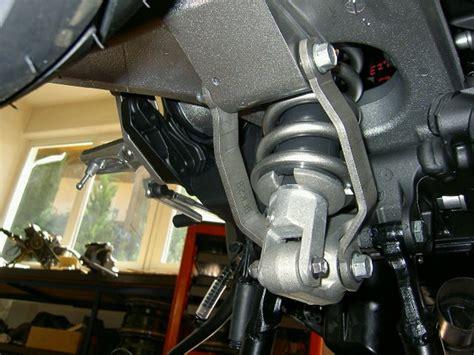 Tieferlegung Gabel Durchstecken by Zzr 1100 Kawasaki Hecktieferlegung Mit Abe