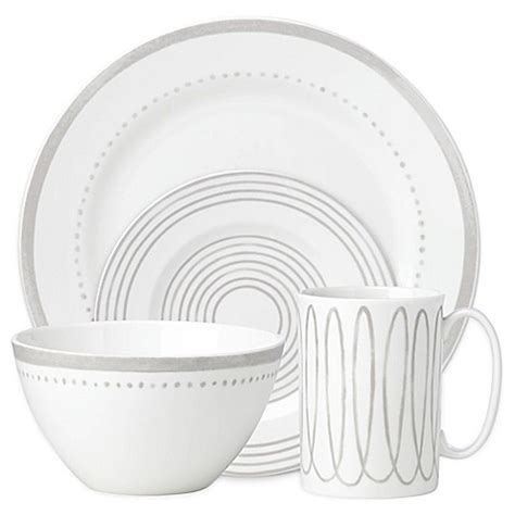 kate spade dinnerware kate spade new york west dinnerware collection in grey bed bath beyond