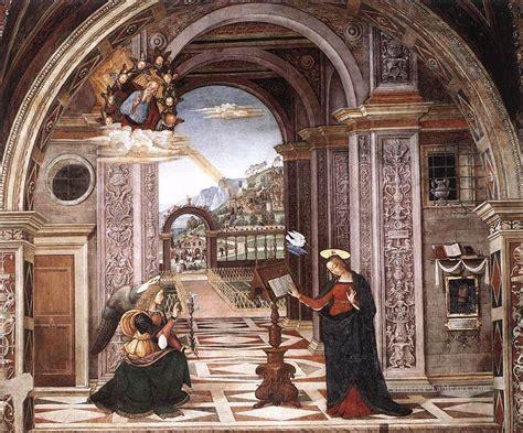 el turquetto l annonciation renaissance pinturicchio peinture tableau en vente