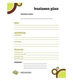 business plan simple template simple business plan template 7 free word excel pdf