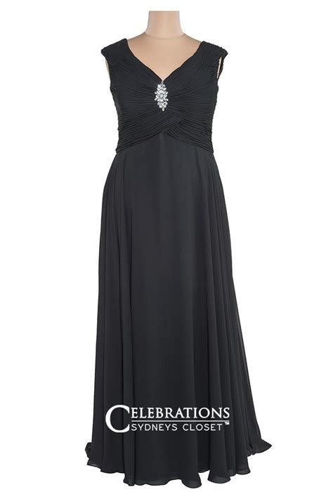 Friendly Formal Dresses - fall in with this bra friendly black evening plus