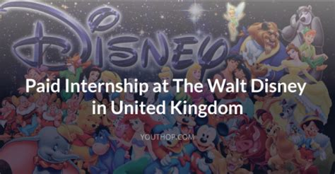 Walt Disney Mba Intern by Internships Archives Youth Opportunities