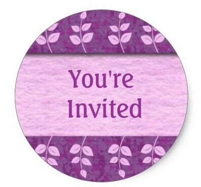 You Re Invited Stickers