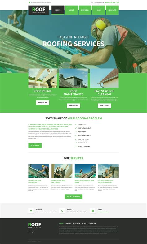 Roof Repair Wordpress Theme Web Theme Templates