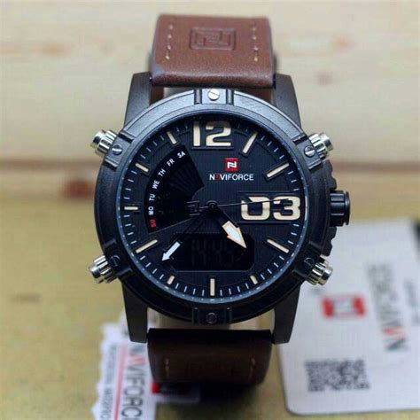 Jam Tangan Pria Naviforce 9095 jam tangan naviforce nf 9095 original time digital