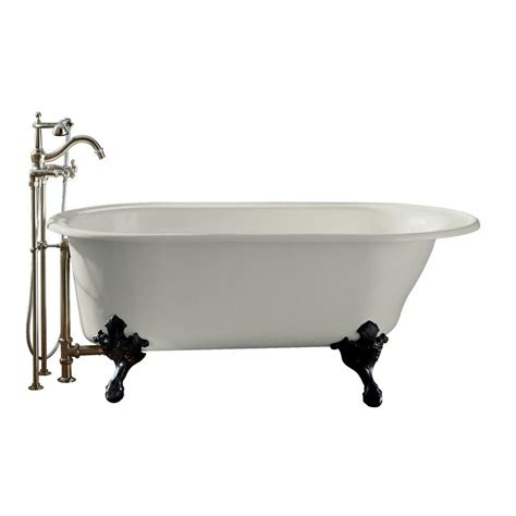 iron cast bathtub kohler iron works 5 5 ft reversible drain historic cast