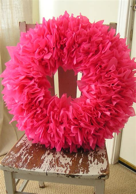 How To Make A Tissue Paper Wreath - diy tissue paper decor up handmade decor the