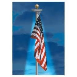 flag solar light flagpole solar power light stores