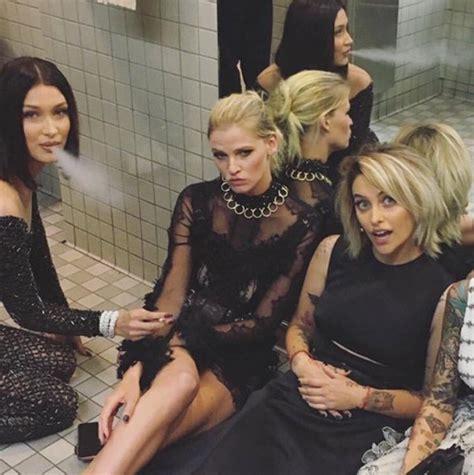 smoking weed in the bathroom bella hadid smoking at met gala 2017 model more stars