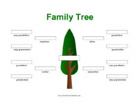 single parent family tree template stepfamily family tree template