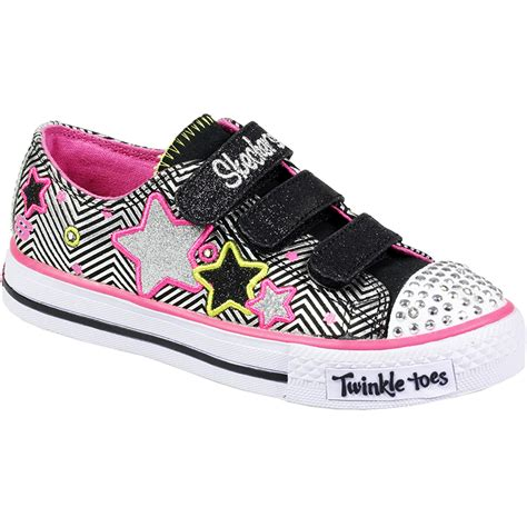 skechers light up shoes skechers velcro lace up twinkle toes light up