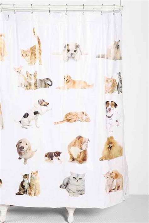 cats shower curtain cats and dogs shower curtain urban outfitters