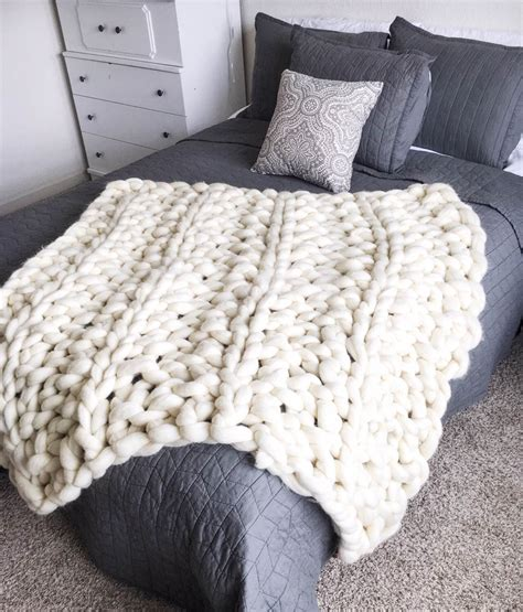 Arm Knit Chunky Blanket by Chunky Arm Knit Blanket Etsy Shop Favorites