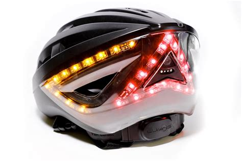 bicycle helmet rear light lumos helmet with brake lights and turn signals close to