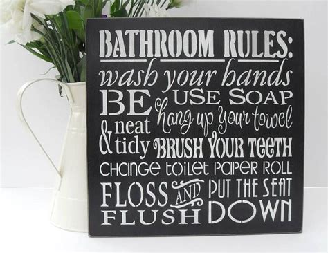 bathroom rules art 17 best images about slogans on pinterest bathroom wall