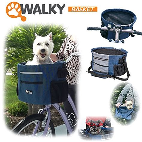 bike basket 20 lbs walky basket pet bicycle bike basket carrier easy click release mounting up to