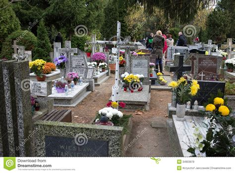 s day in the cemetery all saints day editorial stock image image 34903979