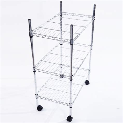 3 Shelf Wire Rack by 34x24x14 Quot 3 Tier Shelf Adjustable Wire Metal Shelving Rack
